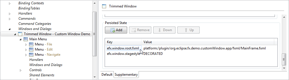 Customizing the e4 main window with e(fx)clipse | Christoph